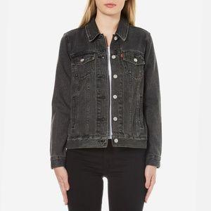 NWT Levi's Washed Black Denim Jacket S